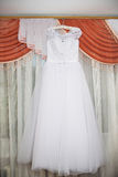 Wedding dress Traditional bride decoration Stock Image