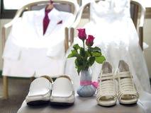 Wedding dress and a tuxedo Royalty Free Stock Photo