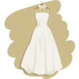 Wedding dress vector. Illustration of a romantic wedding dress + vector EPS file Stock Photo