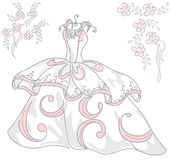 Wedding dress vector Royalty Free Stock Photography