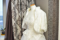 Wedding dress in the white room. 3 Stock Images