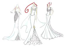 Wedding dresses Royalty Free Stock Images