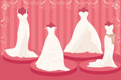 Wedding dresses. A  illustration of a set of wedding dresses Royalty Free Stock Image