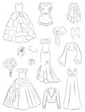 Wedding dresses and accessories Royalty Free Stock Image