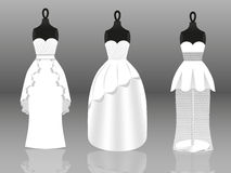 Wedding dresses Stock Images