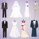 Wedding dresses and costumes Royalty Free Stock Photo