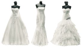 Wedding Dresses Cutout Royalty Free Stock Image