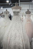 Wedding dresses on display at Si' Sposaitalia in Milan, Italy Royalty Free Stock Image
