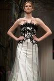 Wedding dresses fashion show Stock Images