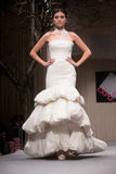 Wedding dresses fashion show stock photography