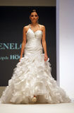Wedding dresses fashion show Stock Images