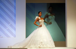 Wedding dresses fashion show Royalty Free Stock Photos