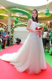Wedding dresses fashion show Stock Image
