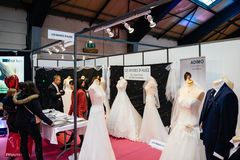 Wedding dresses and French fashion at Wedding fair Stock Images