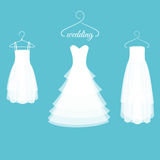 Wedding Dresses on Hangers Royalty Free Stock Photography
