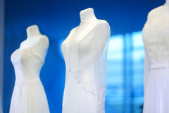 Wedding dresses on a mannequins Royalty Free Stock Image