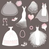 Wedding dresses set Royalty Free Stock Photography