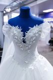 Wedding dresses wedding shop. On mannequins stock images