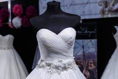 Wedding dresses wedding shop. On mannequins stock photography