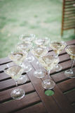Wedding Drinks for guests. And bar to drink champagne or wine Stock Photo