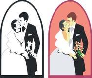 Wedding duet 02. Wedding duet in color 02 stock illustration