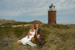 Wedding in the dunes. On the island sylt, germany Royalty Free Stock Photo