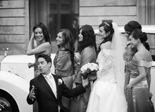 Wedding. In El Born district in Barcelona Stock Photo