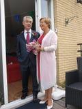 Wedding of elderly people Stock Images
