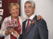 Wedding of elderly people Royalty Free Stock Photo