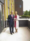 Wedding of elderly people Royalty Free Stock Images