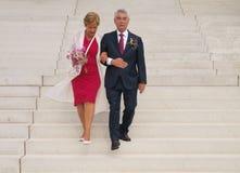 Wedding of elderly people Stock Photo