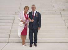 Wedding of elderly people Royalty Free Stock Photography