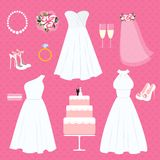 Wedding elements Royalty Free Stock Photos