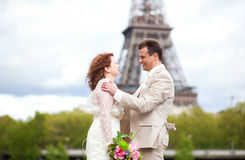 Wedding em Paris Imagens de Stock