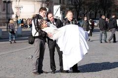 Wedding em Praga fotografia de stock royalty free