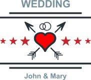 Wedding emblem Stock Photography