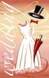 Wedding en rouge illustration stock