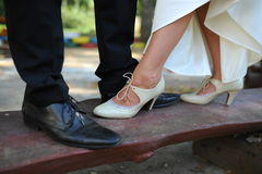 Wedding. Engaged couple and their first dance Royalty Free Stock Photography
