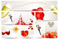 Wedding and Engagement Card Royalty Free Illustration