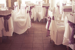 Wedding or event place in restaurant - colorized Royalty Free Stock Image