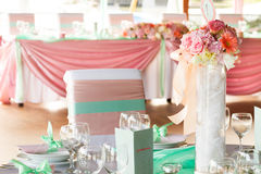 Wedding or event table set Royalty Free Stock Photos
