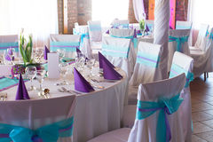 Wedding or event table Stock Images