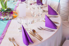 Wedding or event table Royalty Free Stock Images