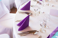Wedding or event table Stock Photo