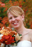 A wedding in fall Royalty Free Stock Photography