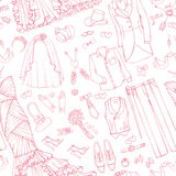 Wedding fashion.Bride,groom dress seamless pattern Royalty Free Stock Photos