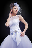 Wedding and Fashion Concept. Portrait of Young Caucasian Female Royalty Free Stock Image