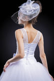 Wedding and Fashion Concept. Portrait of Young Caucasian Female Stock Images