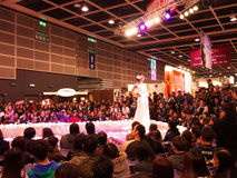 Wedding Fashion Show. In Hong Kong stock photo