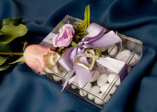 Wedding Favor. With sugared almond royalty free stock photography